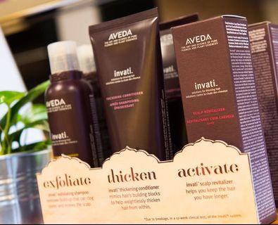 aveda products, invati, 40% off retail price