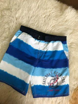 藍色條紋海灘褲