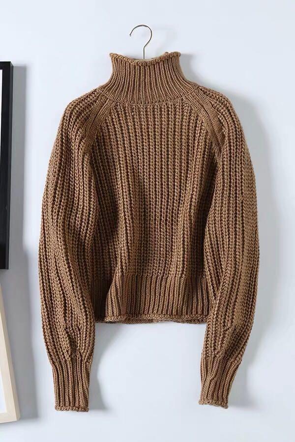OshareGirl 10 歐美女士針織毛衣半高領羊毛