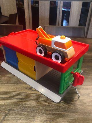 [二手]IKEA LILLABO 玩具車庫 拖車