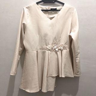 Cream Baju Kurung