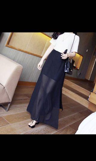 Woman korean skirt black
