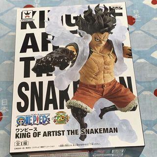 海賊王 金證 蛇人 藝術王者 king of artist the snakeman 公仔 魯夫 日版