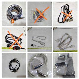 Lan Data cable, Power cable, Power cable extend cable, USB extend cable, Serial Port cable, IDE cable