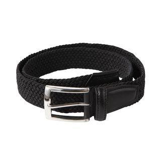 MUJI 無印良品 彈性編織皮帶(黑)