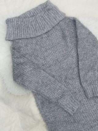 Japan GU Winter Knit Turtleneck Dress