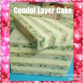 Cendol Layer Cake