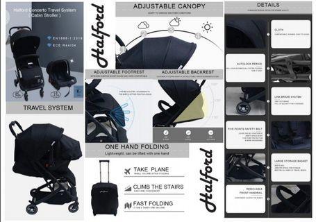 🔥PROMO🔥Halford Concerto Travel System (Stroller+Carrier+Bag+Bar) only at RM599🧸🎈