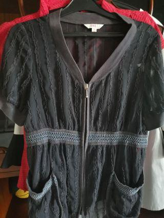 Outer jacket lace dark purple