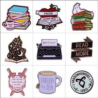 Enamel pin - book, bookish, witch, magic, hardcover, hardback, hard cover