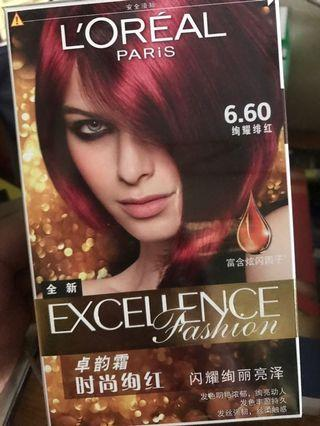 L'oreal Hair Color - intense spicy red