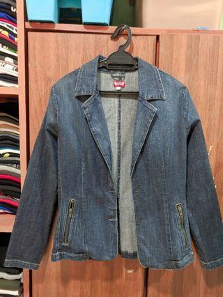 Denim blazer jacket