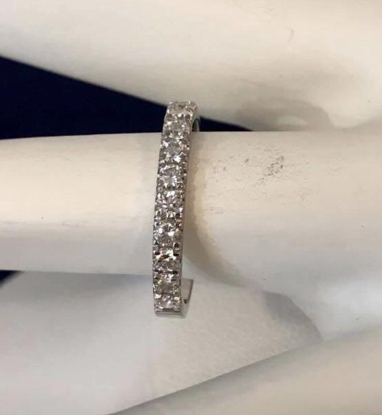18k white gold .75ct. diamond eternity wedding ring * Appraised at $3,500