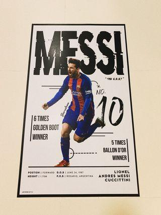 MESSI POSTER ONE AND ONLY