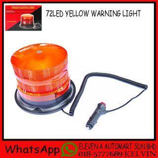 72 LED YELLOW WARNING LIGHT