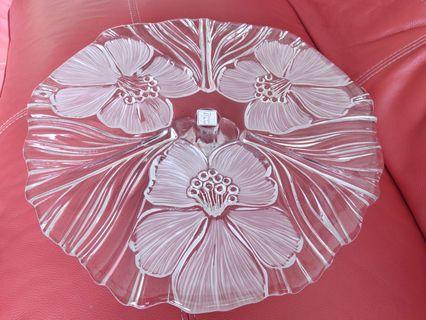 Boraque Glass Home Decor Cake Stand Platter