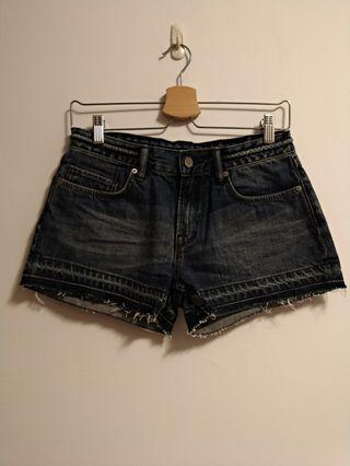 🐡Allsaints牛仔短褲-26