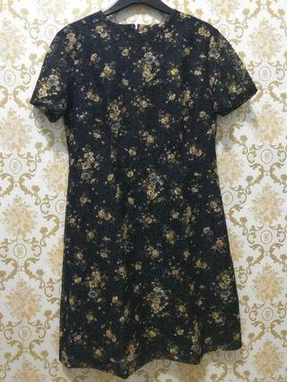 Dress Brukat Flower