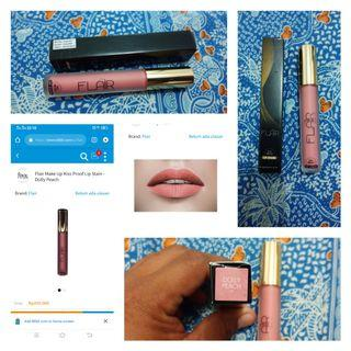Flair Make Up Kiss Proof Lip Stain - Dolly Peach