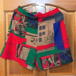 奶奶的衣櫃復古短褲