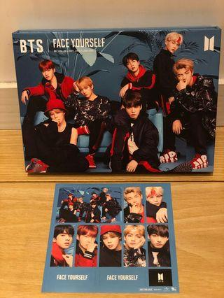 BTS Face Yourself 日版 初回限定 CD+Blue-ray