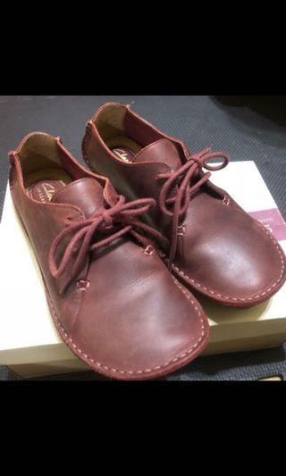 Clark's janey Mae 包鞋 酒紅 37