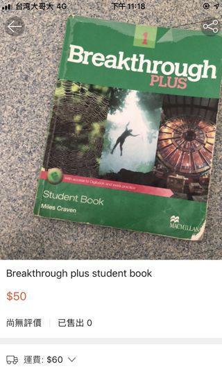 Breakthrough plus student book 1