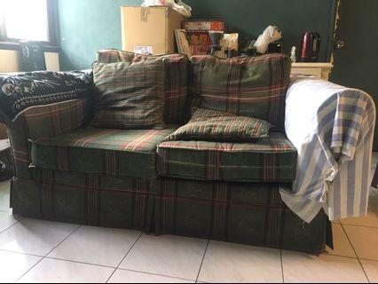 (贈送)二手雙人座沙發