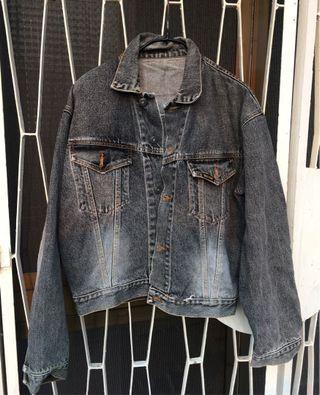 日本古著店購入水洗灰色牛仔外套