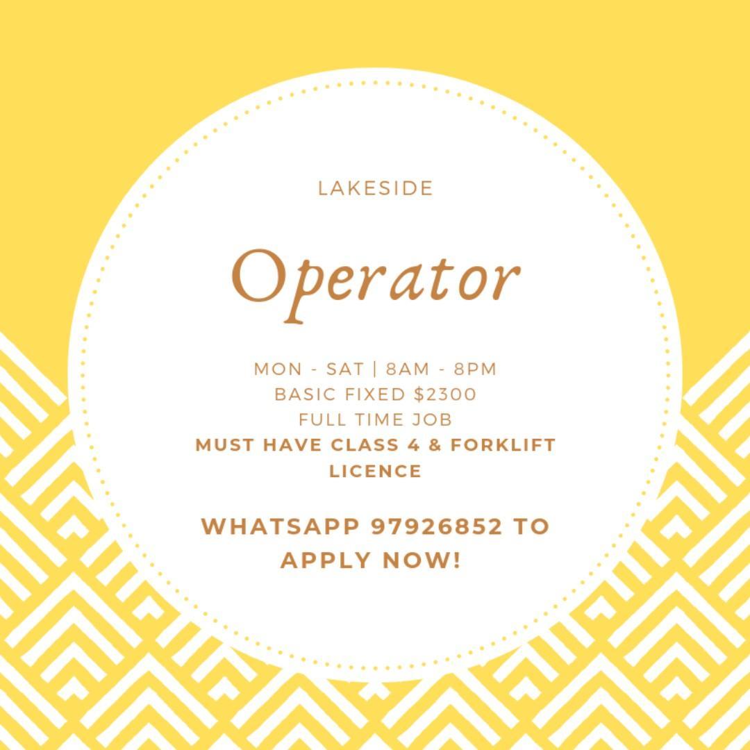 RRLS Full Time Operator (Possess Class 4 & Forklift License)