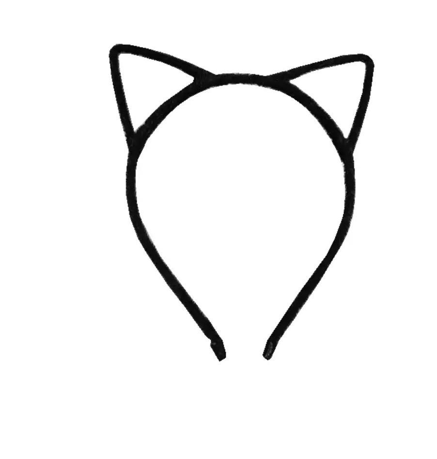 聖誕節裝飾~韓版貓耳立體髮箍-黑色