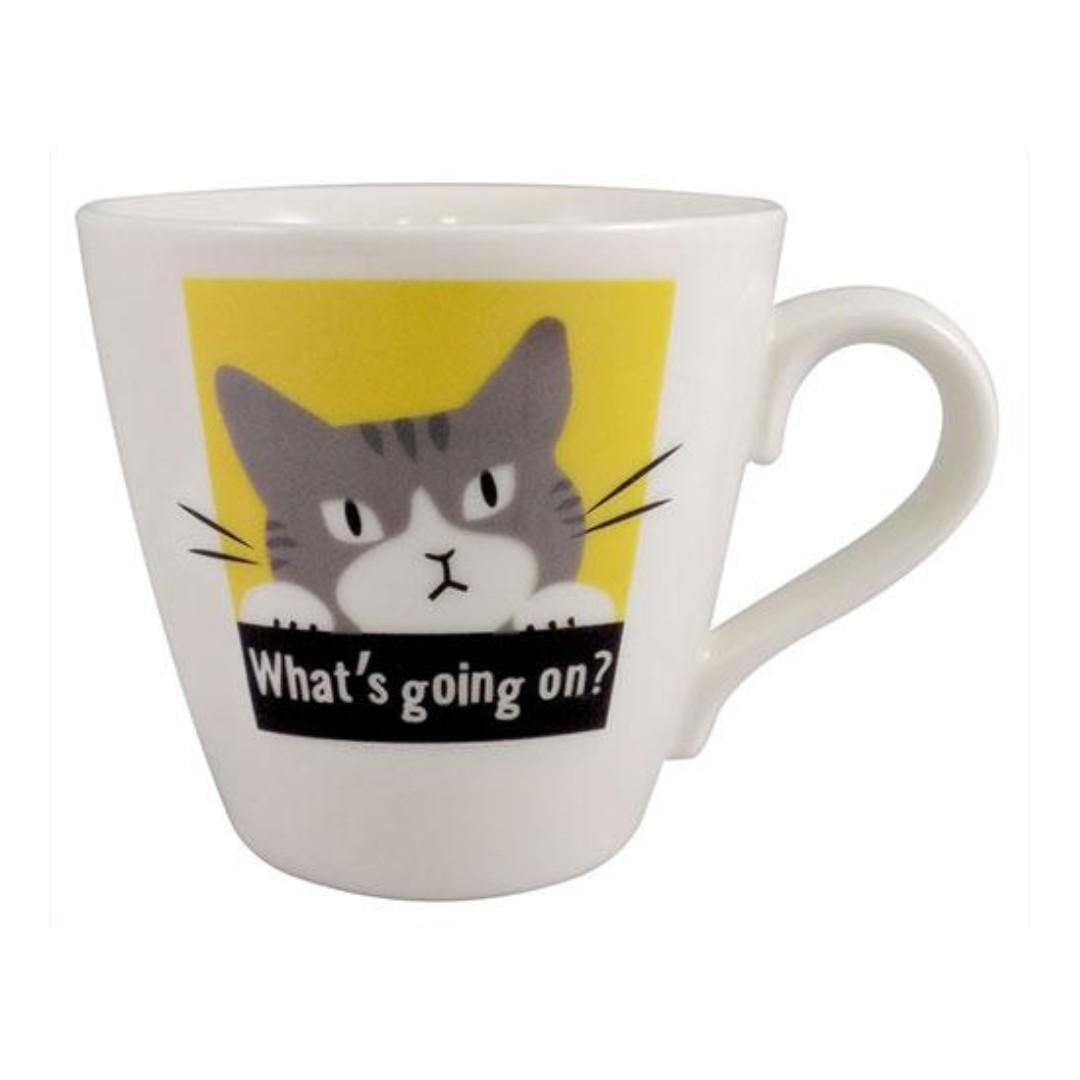 日本製溫感魔法變色馬克杯【八分貓變灰貓】