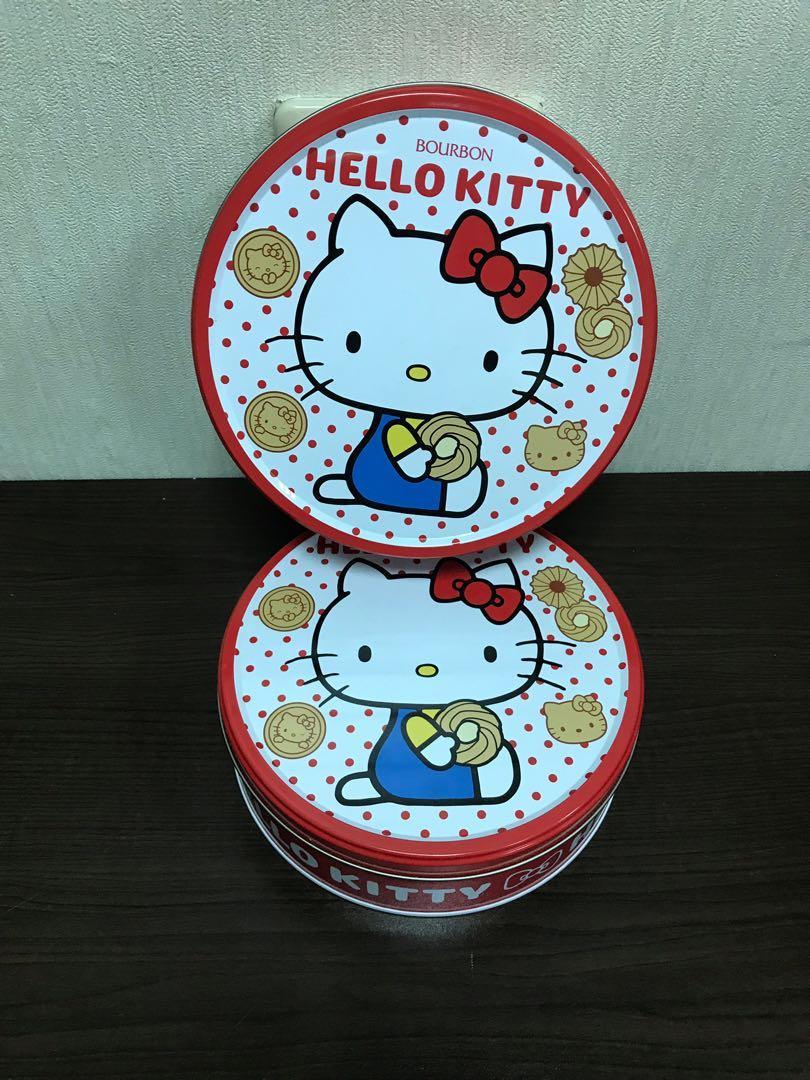 現貨 HELLY KITTY 圓餅乾盒 收藏收納盒 飾品盒 空鐵盒 餅乾盒 圓鐵盒19*6公分