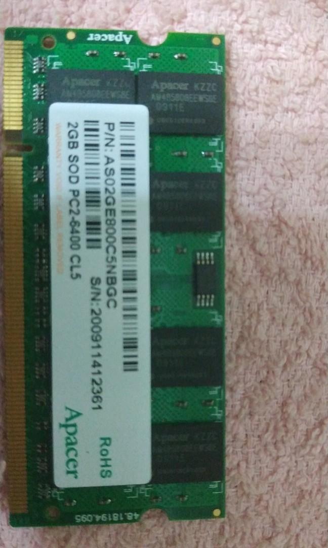 Acer 筆電ASPIRE 5735Z 拆賣記憶體