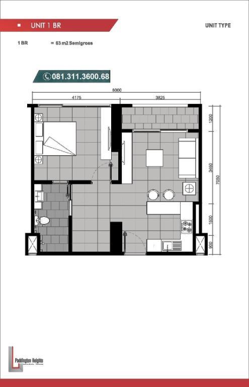Apartment Alam Sutera Paddington Heights Siap Huni bisa KPA dekat Binus dan SGU Fasilitas Mewah