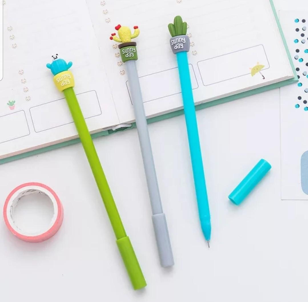 Children's Day gifts $2 & below!!! Cactus pen + transparent pencil case / pouch set @ $2.50 only! Buy 30 pcs and above for $2 per set!!!