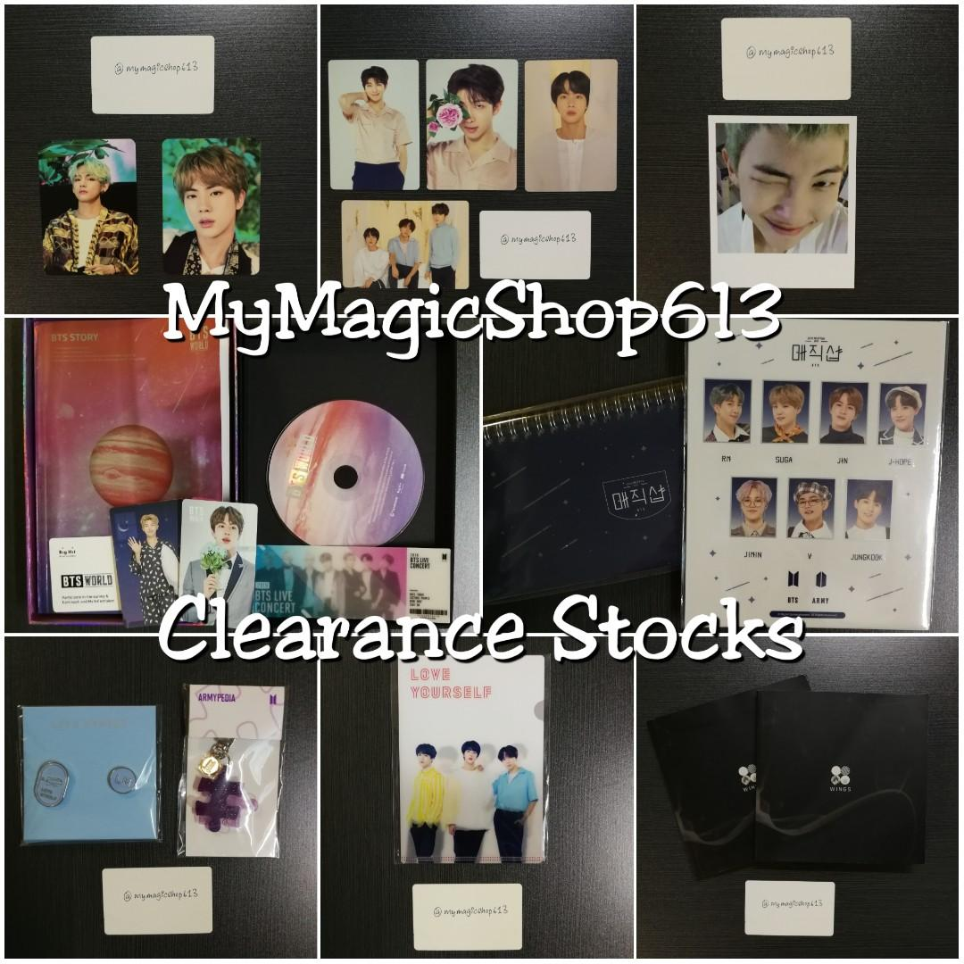 <2019 OCT CLEARANCE> BTS OFFICIAL MD / ALBUMS / BT21 CLEARANCE SALE