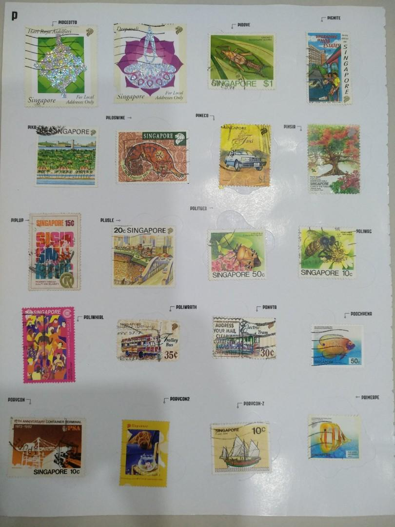 Collection of Singapore stamps