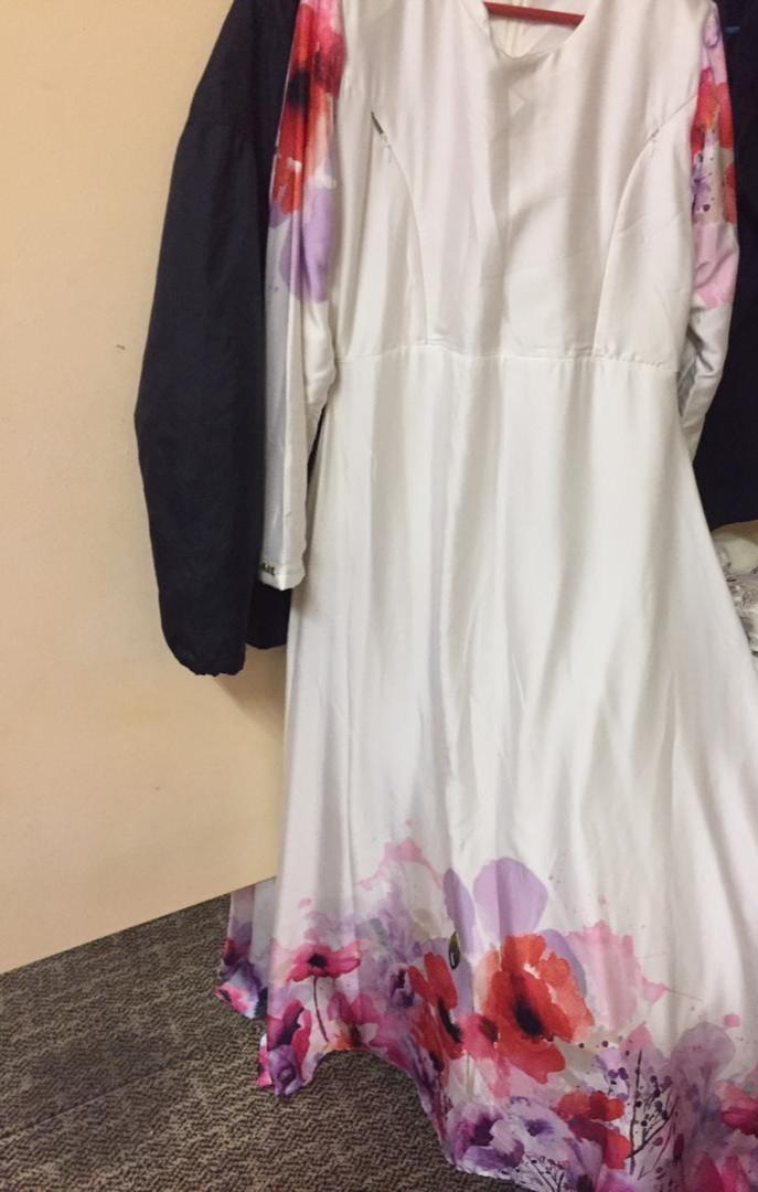Dress lara minaz white colour
