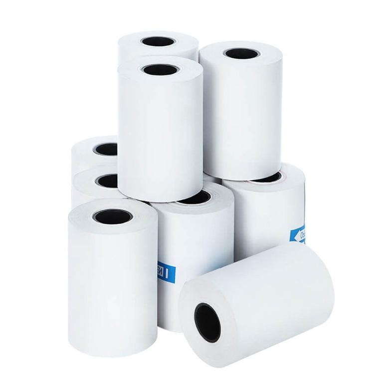 Emajin 120 Bulk Thermal Paper Rolls 57x38mm Cash Register Receipt Roll Eftpos
