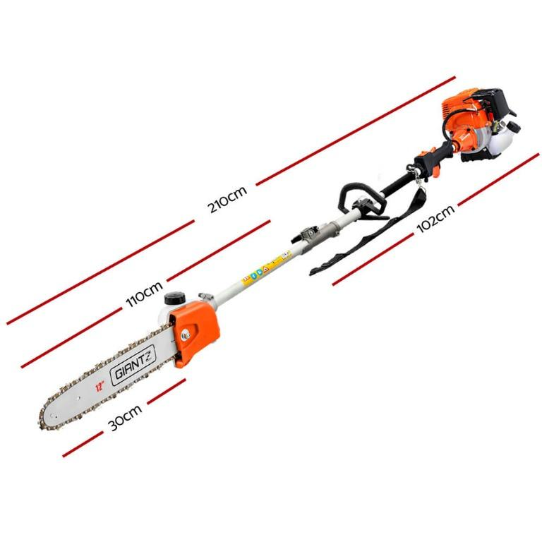 Giantz 4 Stroke Pole Chainsaw Petrol Chain Saw Brush Cutter Brushcutter Tree