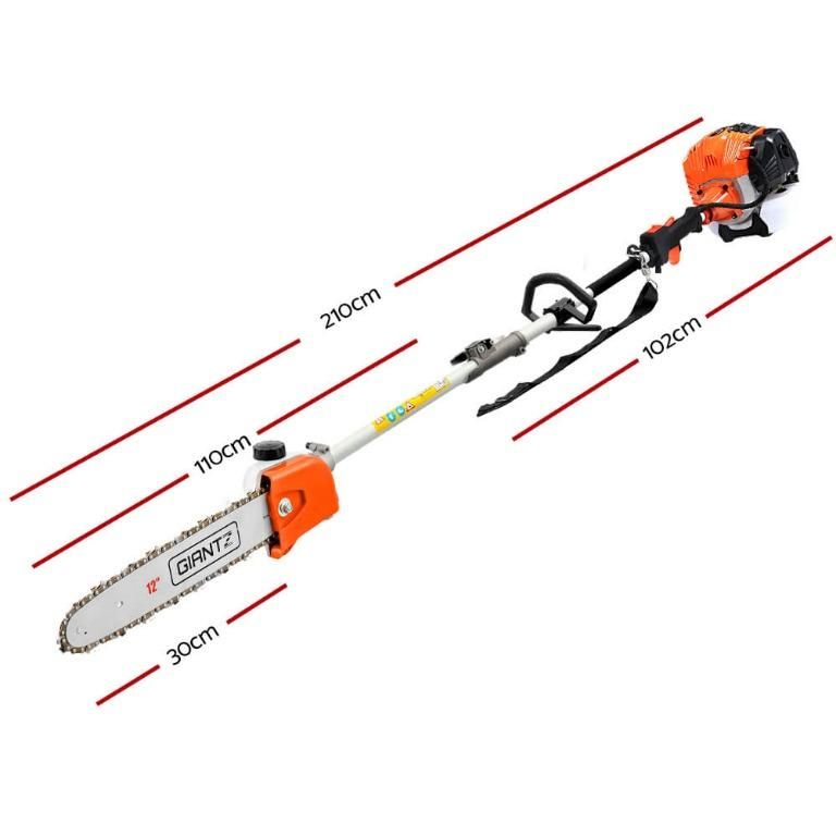 Giantz 65CC Petrol Pole Chainsaw Chain Saw Brush Cutter Brushcutter Tree