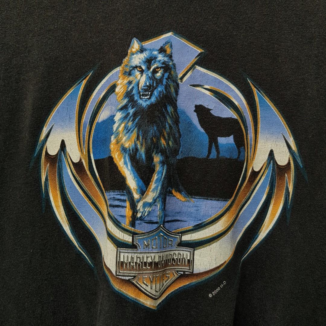 Harley Davidson Las Vegas Chrome Wolf Tee