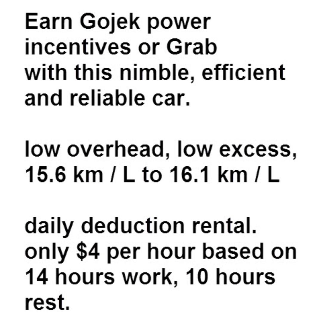 Honda Jazz 1339CC Auto rental $50+6, daily deduction.