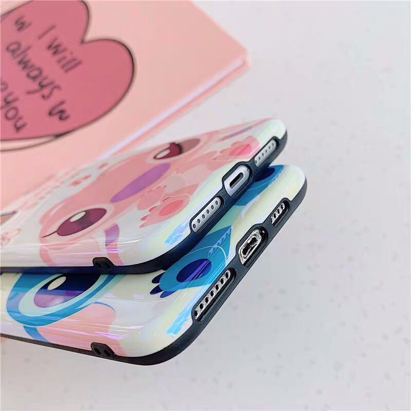 iPhone case 11/11pro/max 史迪仔 stitch 藍光面 手機軟殻