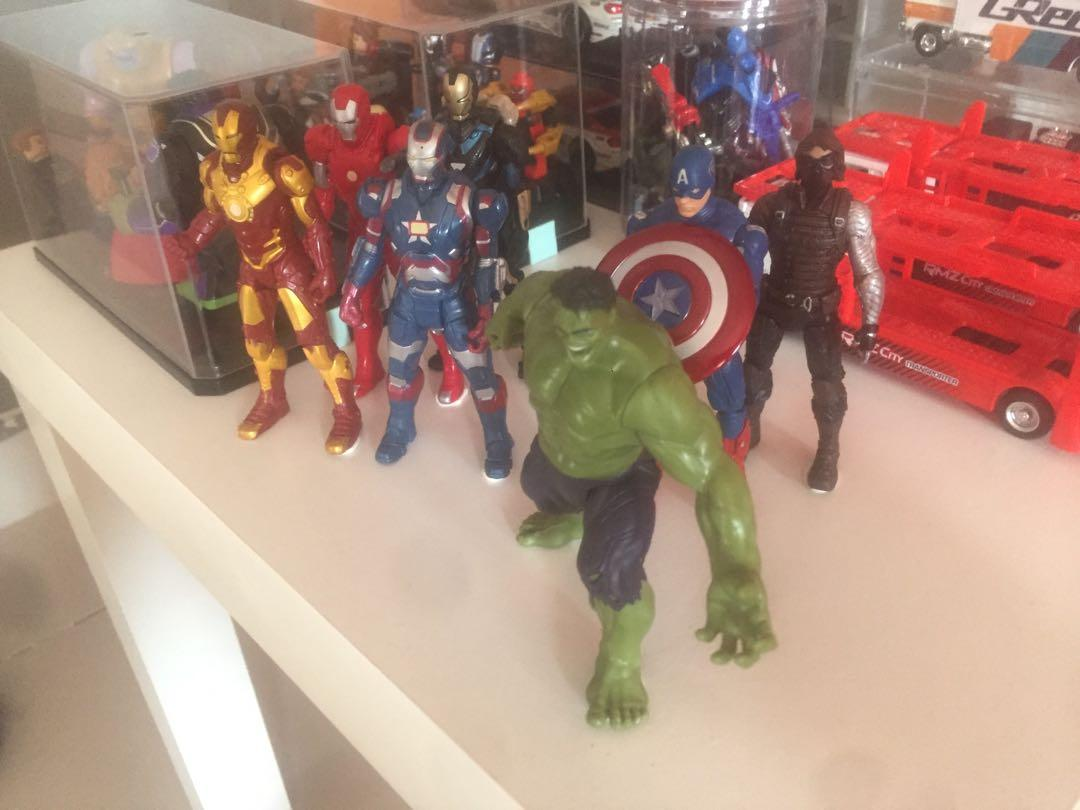 Iron Man,Captain America & Hulk