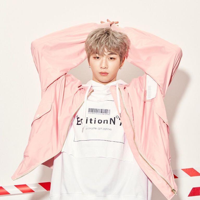 LAP x KANG DANIEL Pink Pilot Jumper/Jacket(Size XL)