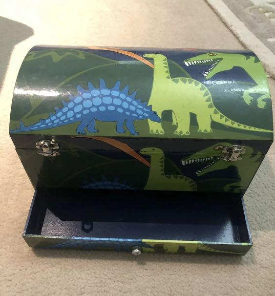 Large bobble art kids storage chest box with compartments