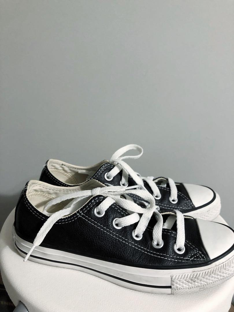 LEATHER CONVERSES 5.5