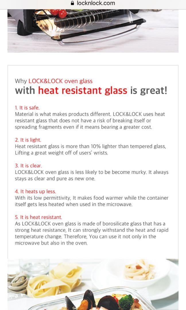 Lock n lock oven safe glass with lid 2litre